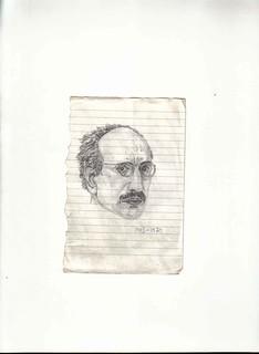 Zavier Ellis 'Mad Genius #4', 2006 Pencil on paper 14.8x10.7cm