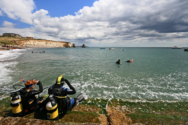 Dive School - Scuba Diving @ Freshwater Bay, Isle of Wight