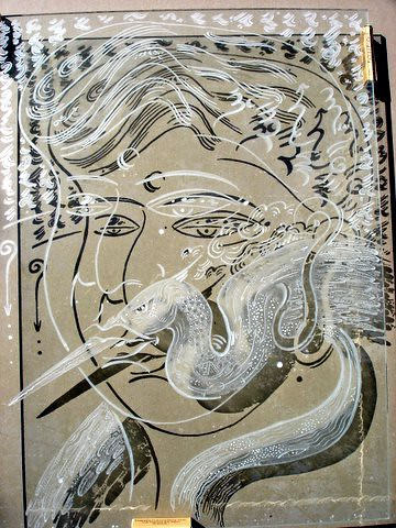 Prana. 2005 glass engraving