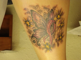 4 My Breast Cancer Ribbon Tattoo This Is The Tattoo I Got Flickr