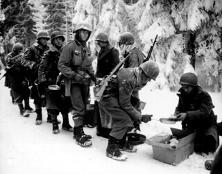 Chow is served to American Infantrymen