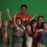David James Elliott and the cast of The Rainbow Tribe