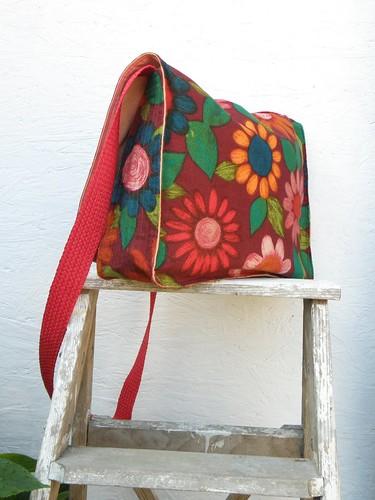 Retro Flower Messenger - Multi | by P8 Accessories & Button Art