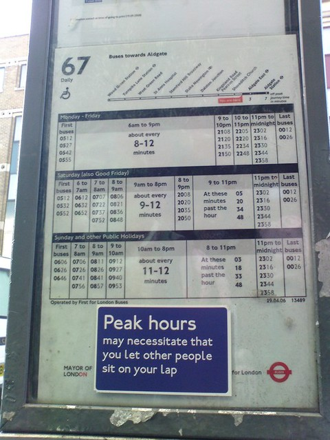 London Bus Sign