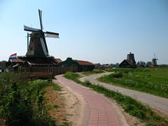 Walkway to the windmills in Zaanse Schans, Holland