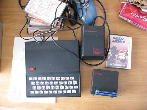 Nuestro Sinclair ZX-81 (ZX81) comprado en enero de 1982
