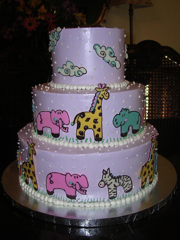 Pleasant Safari Birthday Cake A Little Girls Safari Themed First B Flickr Funny Birthday Cards Online Alyptdamsfinfo