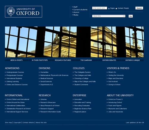 Homepage - University of Oxford | by Gustavo da Cunha Pimenta