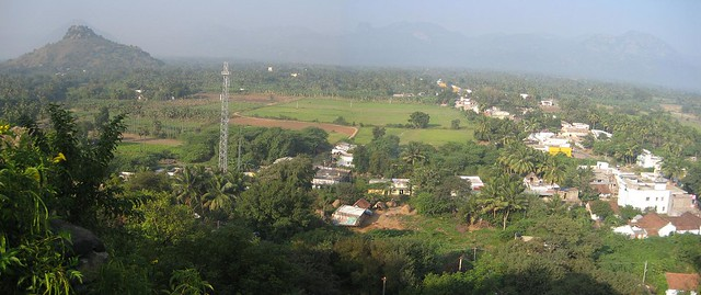 Arial view of Padavedu Temples from Subramanya Swamy Temple Hill