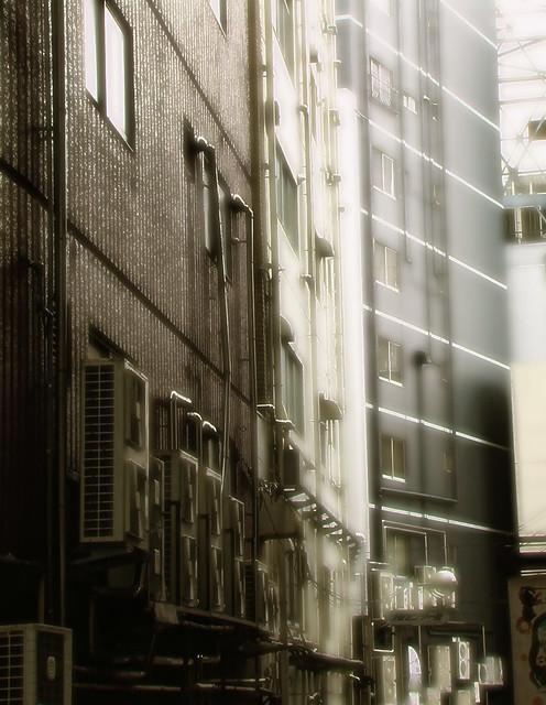 A street behind, anime variation