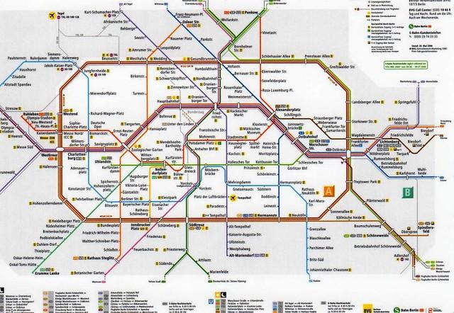 Berlin U Bahn S Bahn Map Postcard 2006 Kotarana Flickr - Berlin-us-bahn-map