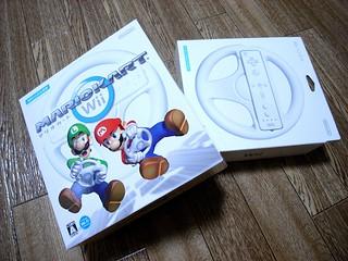 Wii mario kart & steering wheel | by bvalium
