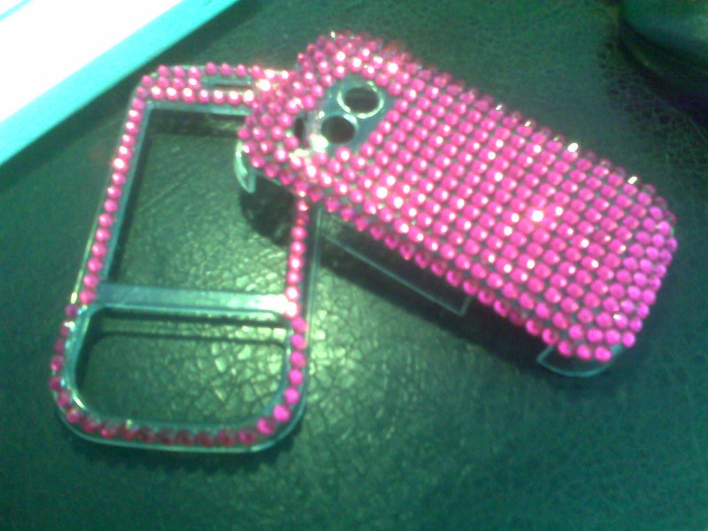 LG KS360 in Very Hot Pink Crystals! | www rhinestonerainbowz