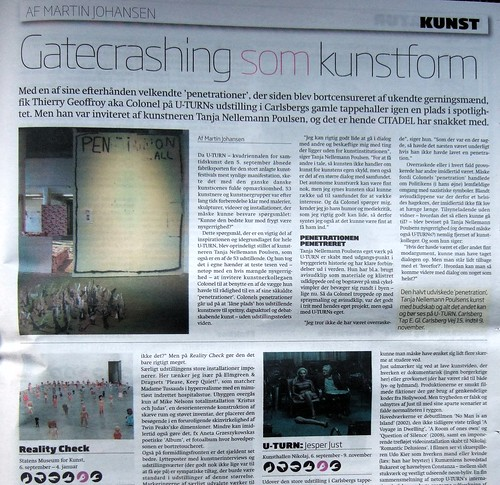 Gatecrashing som kunstform -citadell penetration wall Uturn | by Thierry Geoffroy / Colonel