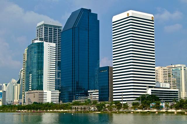Buildings near Benjakiti Park in Bangkok
