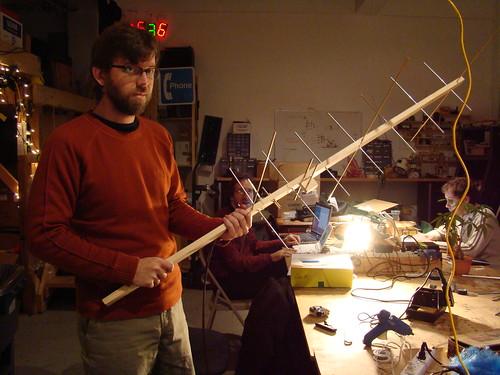 Dave Clausen with a 2m/70cm Yagi