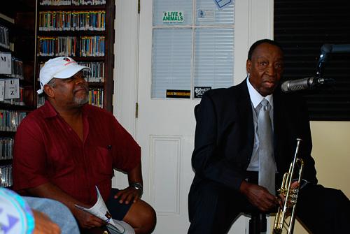 Bunchie Johnson and Dave Bartholomew at WWOZ 2008