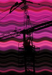 Purple Crane by mikedarnell1974