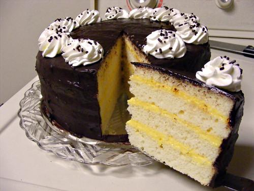 By Howtoeatacupcake Dads Boston Cream Birthday Cake