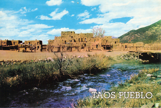 UNESCO Taos Pueblo, New Mexico Postcard