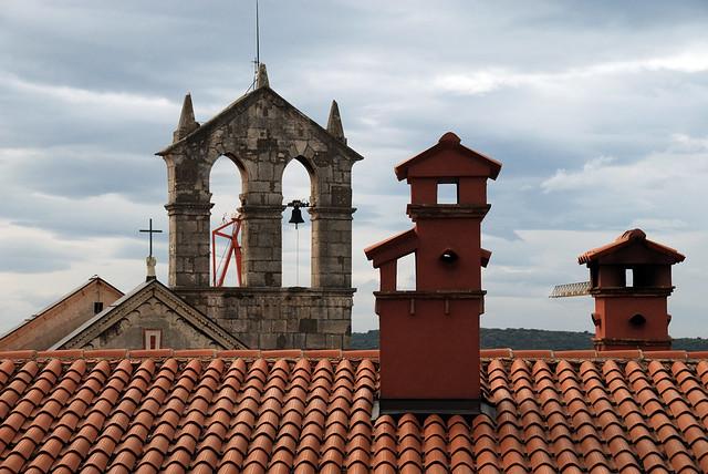 Red chimneys of Pula