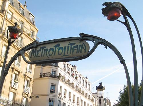 Art Nouveau-  metro sign