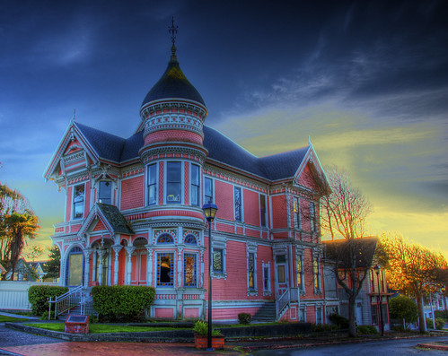 california pink sunset house color building home architecture carson colorful queenanne victorian explore mansion hdr eureka pinklady photomatix 200811