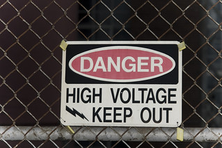 Danger: High voltage sign | by Pat Spinney