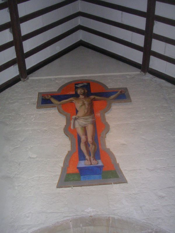A Duncan Grant crucifixion Berwick church Lewes to Berwick via West Firle