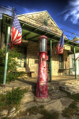 texas tx gasstation driftwood hdr photomatix