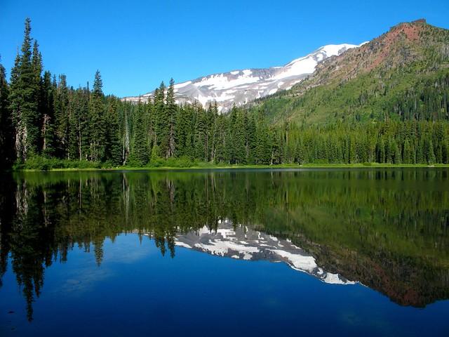 Bench Lake and Mt. Adams