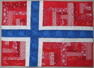Norwegian Flag mini quilt
