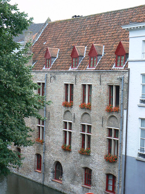 View from hotel room, Bruges