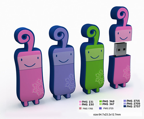 3D Flash Drive Characters   by CustomUSB.com