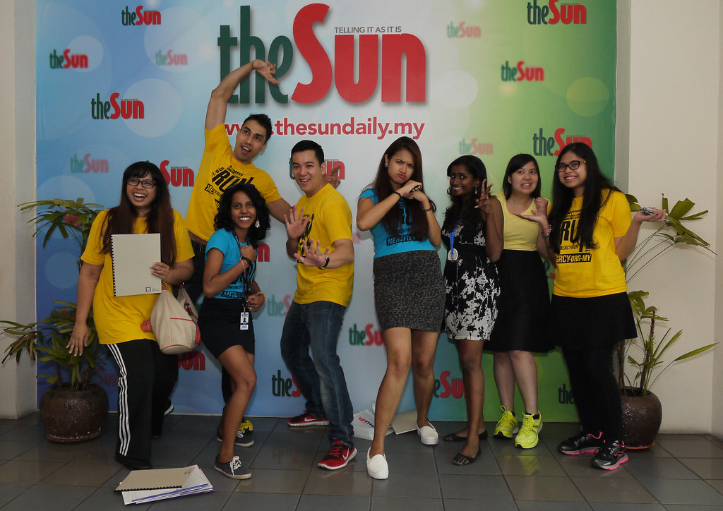 #MyMERCYRun MEDIA BLITZ at theSun Daily Office 2015