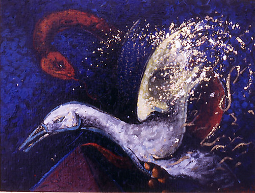 Shedding the golden eggs 720 pdi oil painting 1993.