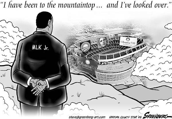 MLK Looking down from Heaven