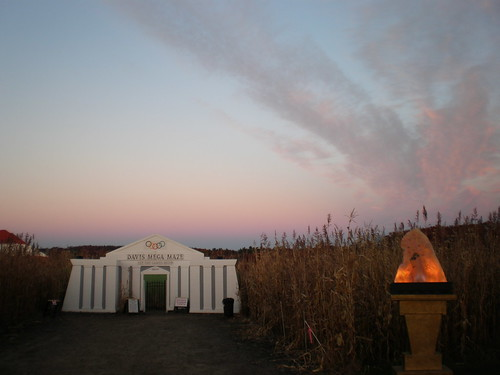 sunset sky clouds corn pretty maze sterling davis