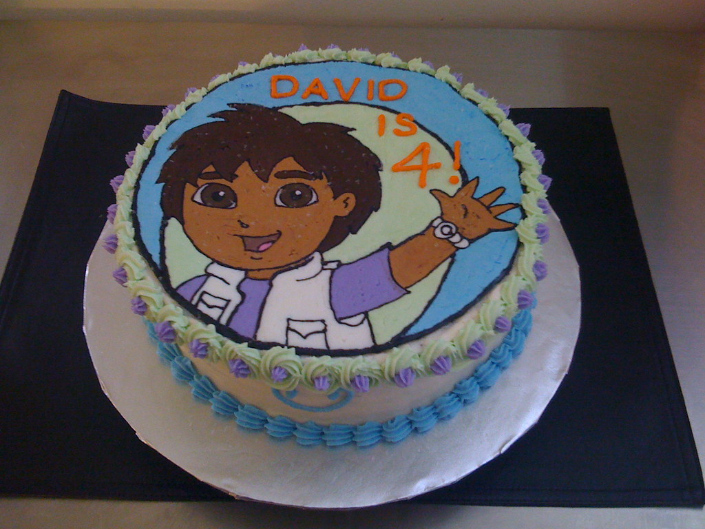Fantastic Boys Birthday Cake Diego Birthday Cake For 4 Year Old Boy Flickr Funny Birthday Cards Online Sheoxdamsfinfo