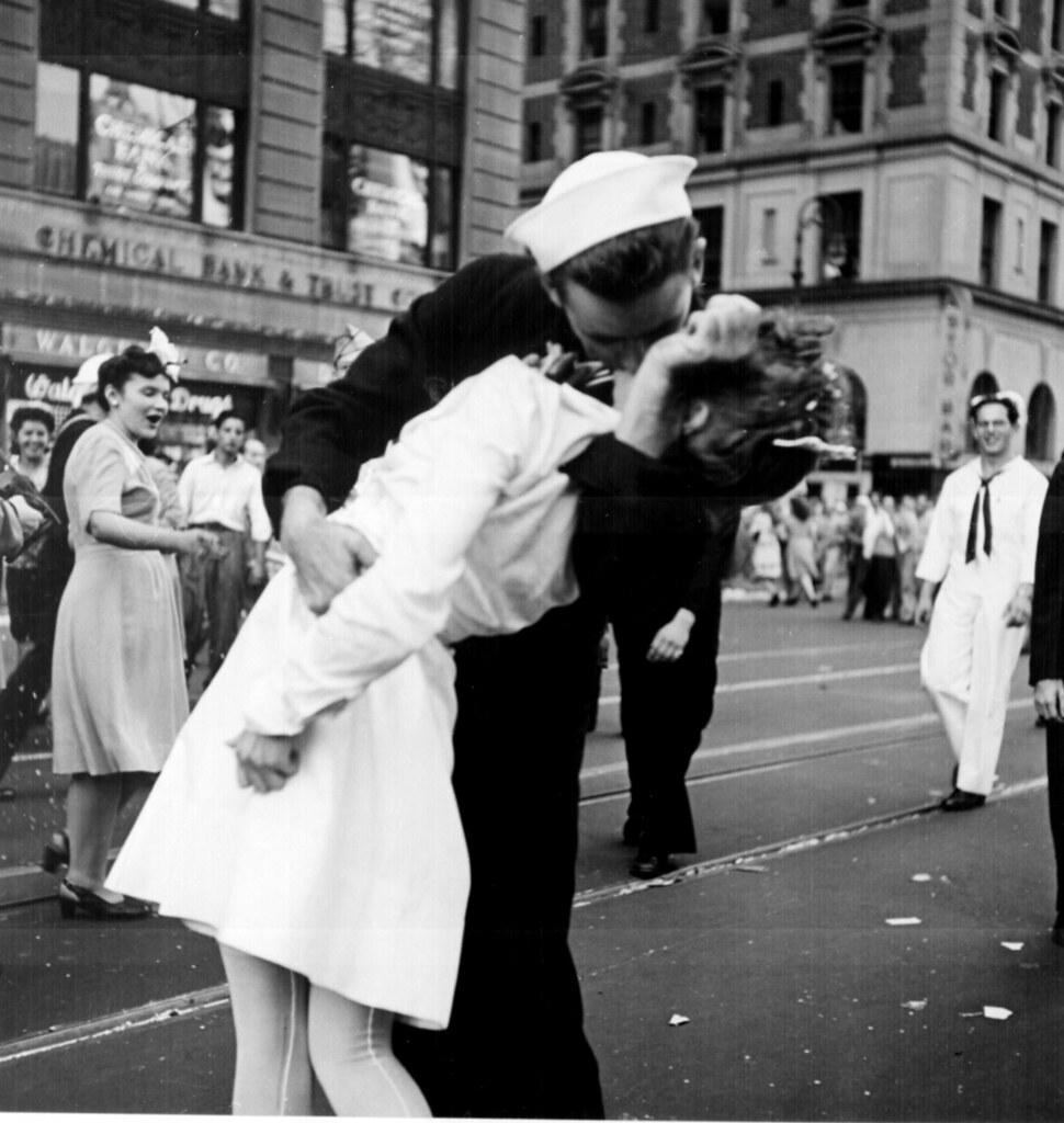 New York City celebrating the surrender of Japan