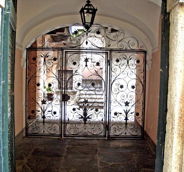 Wrought iron gateway in Cannobio, Lake Maggiore