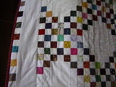 The edge of the quilt