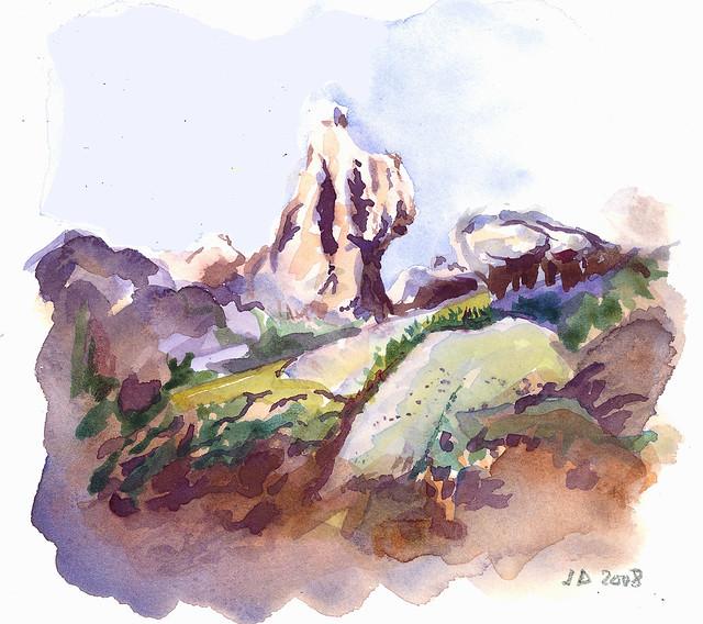 en Corse du sud (aquarelle)