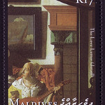 【Vermeer's letter stamp】モルディブ諸島2001/1/15 d