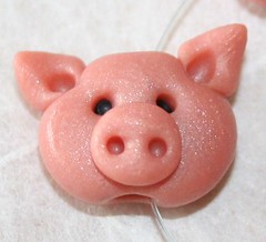 Little pig - close up! | by Tina T.'s Polymer Clay