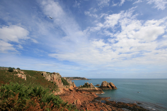 Rugged coastline - Towards St Brelades, Jersey