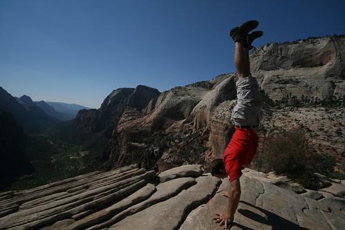 Angels Landing, Zion National Park, Utah   by @HandstandSam