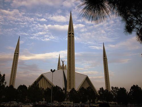 pakistan sunset sky architecture muslim islam mosque masjid faisal islamabad faisalmasjid faisalmosque faisalsaeed