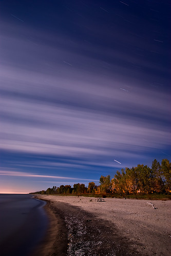 longexposure nightphotography ontario night clouds greatlakes nightshots startrails sigma1020mm rondeauprovincialpark southwestontario bobwest k10d noisereductionoff multiexposuremode