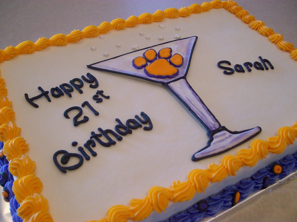 Brilliant Martini Birthday Cake A Clemson Student Goes Legal Flickr Funny Birthday Cards Online Eattedamsfinfo
